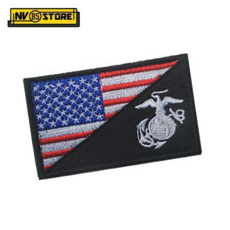 img-Patch Low Vis USA Usmc US Marines Corps 8 X 5 CM Military Velcrogrip