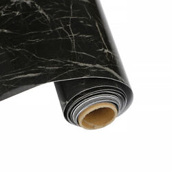 Black Marble Peel and Stick Wallpaper Self Adhesive Film Contact Paper Decor
