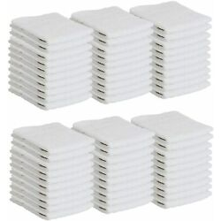 Kyпить Bulk 60 Pack of Washcloths - 12 x 12 White Fingertip Towels - Quick-Dry Cotton  на еВаy.соm