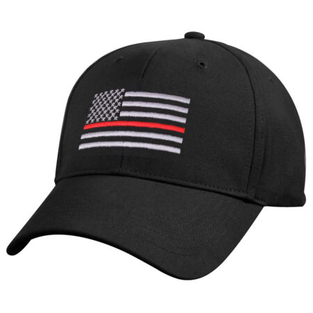 img-Firefighter EMS Medic Hat Baseball Cap Ballcap US Flag Thin Red Line Rothco 9896