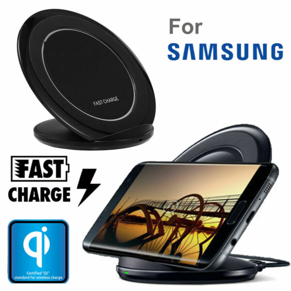 CARICATORE WIRELESS CARICABATTERIE FAST CHARGE QI 10W PER SAMSUNG NOTE 9 10 S20