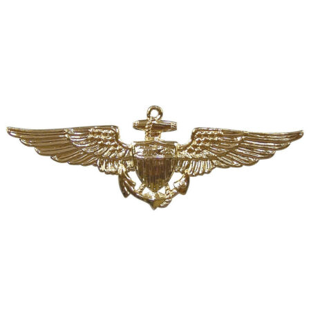 img-USN US Navy USMC USCG Marines Coast Guard Aviator Pin Insignia Gold Rothco 1654