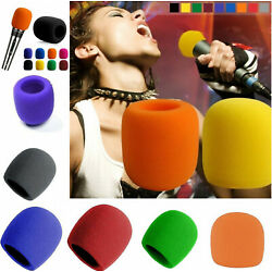 10pcs Handheld Stage Microphone Windscreen Sponge Foam Cover Shield Protection
