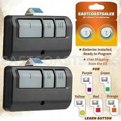 Kyпить 2 For Chamberlain LiftMaster Garage Door Opener Remote 893LM 953EV-P2 Learn на еВаy.соm