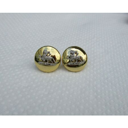 img-Pair of ROYAL GLOUCESTERSHIRE, BERKSHIRE & WILTSHIRE REGIMENT (RGBW) CAP BUTTONS
