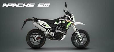 BRAND NEW 2020 (20) SINNIS APACHE125CC GREEN AND BLACK