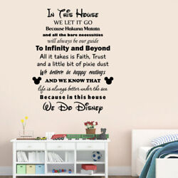 In This House We Do Disney Quotes Wall Decal Inspire Vinyl Sticker Art Decor q42