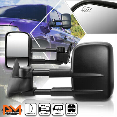 For 99-02 Chevy Silverado/GMC Sierra Power+Heated Side View Towing Mirror Pair