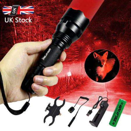 img-Tactical Flashlight Lamp Hunting Air Rifle Torch Light Scope Mount Green Red C8