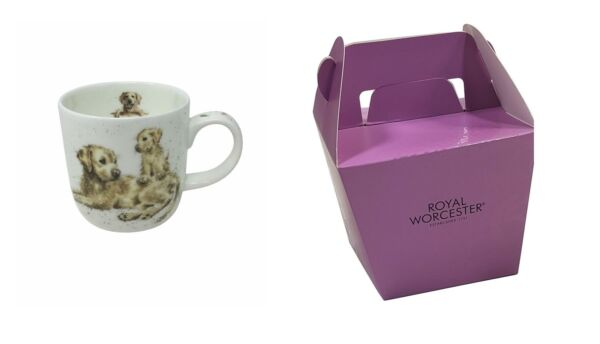 Royaume-UniLicence Official Emballé Wrendale Chiot Golden Retriever Chien  Tasse