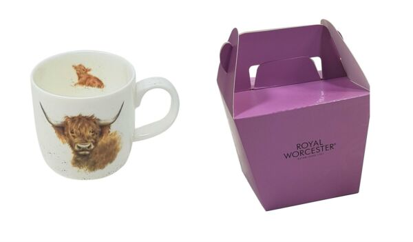 Royaume-Uni2 X Emballé Wrendale Licence Official Highland Vache  Fine Chine Tasse