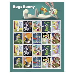 Kyпить New USPS Bugs Bunny Pane of 20 на еВаy.соm