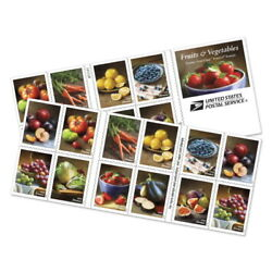 Kyпить New USPS Fruit & Vegetables Booklet of 20 на еВаy.соm