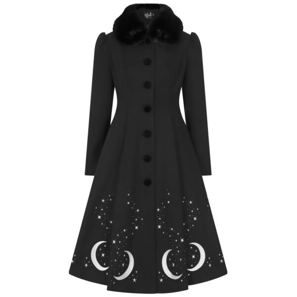 Royaume-UniHell Bunny Interstellaire Crescent Lune Stars  Occulte Wicca Witch Coat
