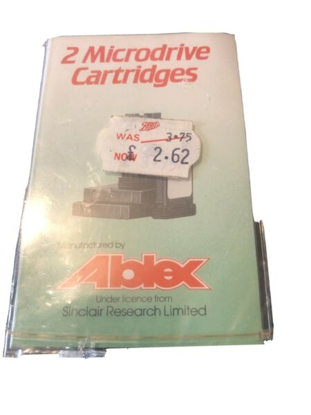 RARE SINCLAIR ABLEX MICRODRIVE CARTRIDGE BLANK CASSETTES NEW