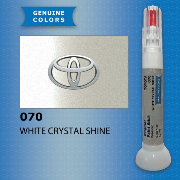 LituanieWHITE CRYSTAL SHINE 070 TOYOTA Touch Up Paint Repair Kit Pen Brush Scratch Chip