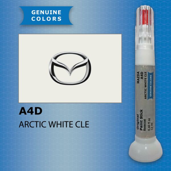 LituanieARCTIC WHITE CLE A4D MAZDA Touch Up Paint Repair Kit Pen Brush Scratch Chip