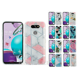 For LG K31 | Aristo 5 - Marble | Wood | Glitter Impact Shockproof Cover Case