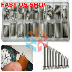 Kyпить 360pcs Watch PINS SPRING BARS Band Strap Link 8-25mm Repair Kit Stainless Steel  на еВаy.соm