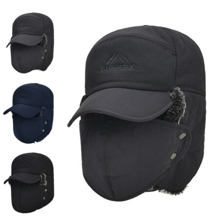 img-Men's Aviator Trapper Hat Winter Earflap Warm Face Ski Cap Outdoor Winter Women