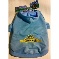 Bow Wow Pet Light Blue Emroidered Dog Hoodie ''BOW WOW COUTURE'' Medium