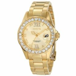 Kyпить Invicta 15252 Women's Pro Diver Gold Dial Crystal Accented Watch на еВаy.соm