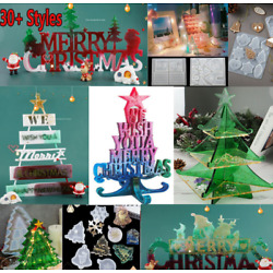 Silicone Christmas Ornaments Jewelery Casting Mold Resin Epoxy Mould Tool Craft