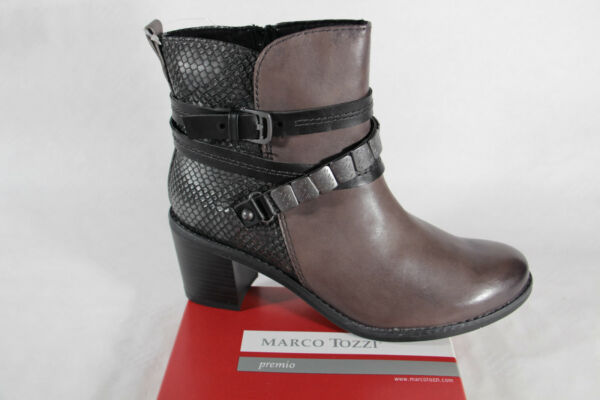 AllemagneMarco Tozzi Bottes  Bottes Cuir Gris Neuf