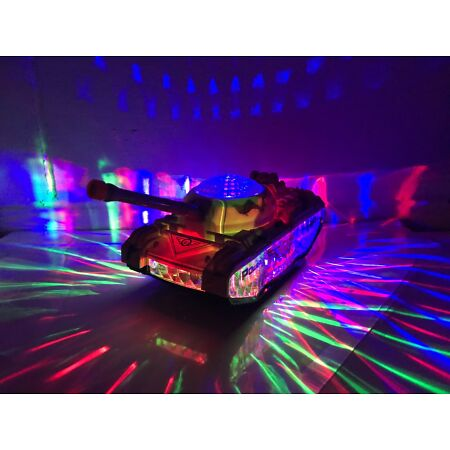 img-ARMY BATTLE TANK BUMP & GO FIRING SOUND 3D FLASHING DISCO LIGHTS TODDLER TOYS