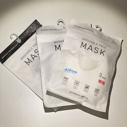 Kyпить Uniqlo AIRism Washable Face Masks 3 Pack Breatheable 3 Layer Built in Filter на еВаy.соm
