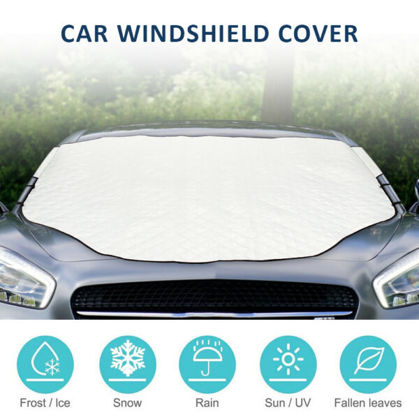 FranceMagnetic-Car-Windscreen-Cover-Ice-Frost-Shield-Snow-Dust-Sun-Shade-- SH