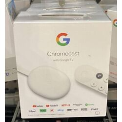 Kyпить Google Chromecast with Google TV 2020 - Streaming Entertainment in 4K HDR - Snow на еВаy.соm