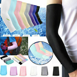 Kyпить 2pcs Cooling Arm Sleeves Cover UV Sun Protection Outdoor Sports For Men Women на еВаy.соm