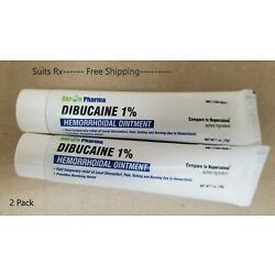 Kyпить DIBUCAINE 1% HEMORRHOIDAL OINTMEMT 2 PACK!! EXP 11/21 FREE SHIPPING на еВаy.соm