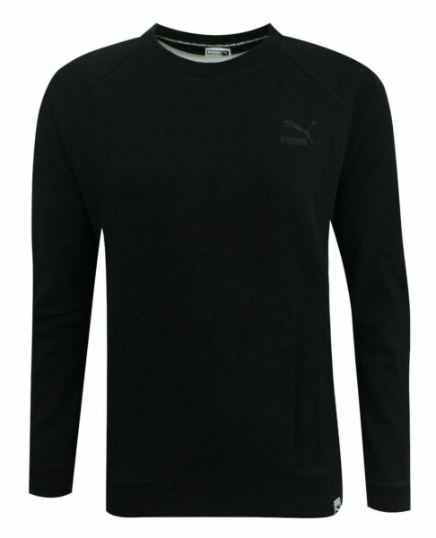 Royaume-UniPuma Archive Logo Crew Long Sleeved Womens Pullover Top 573570 01 A43E