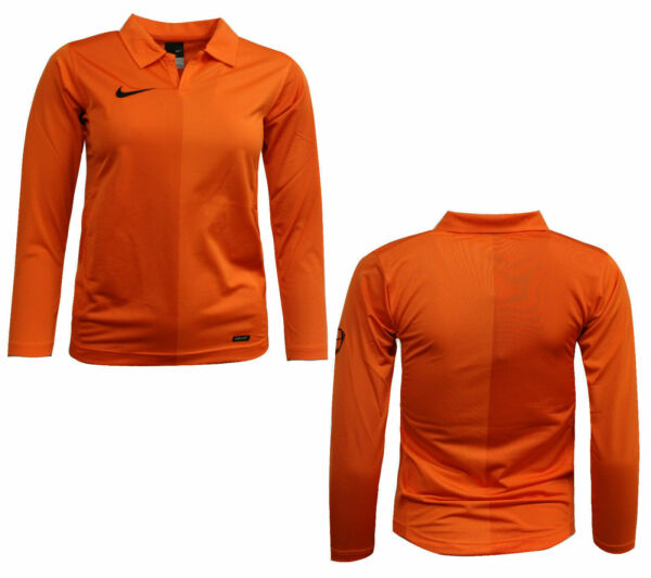 Royaume-UniNike Dry-Fit Long Sleeved Kids Football Harlequin Top Orange 119832 815 A11D