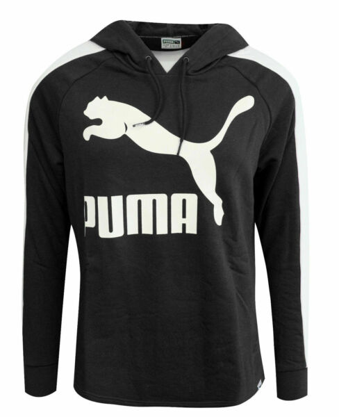Royaume-UniPuma Archive Logo T7 Womens Hoodie Long Sleeved Top Black 572489 56 A109D