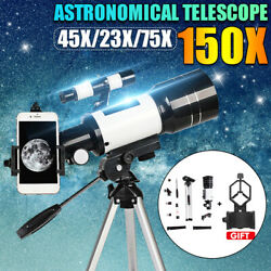 Kyпить 70mm 150X Professional Astronomical Telescope Refractor w/ Tripod Phone Adapter на еВаy.соm