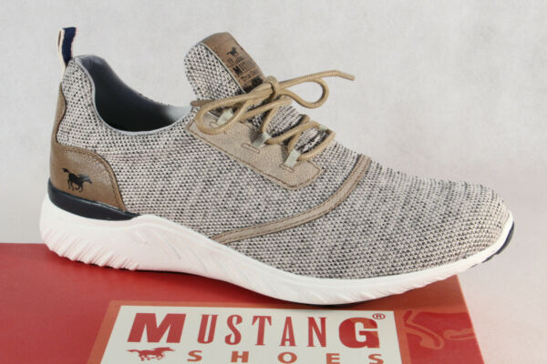 AllemagneMustang s Chaussures à Lacets Chaussures de Sport Basses Beige Neuf