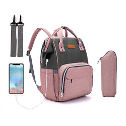 Kyпить LEQUEEN USB Charge Mommy Baby Diaper Bag Maternity Nappy Backpack Multifunction на еВаy.соm