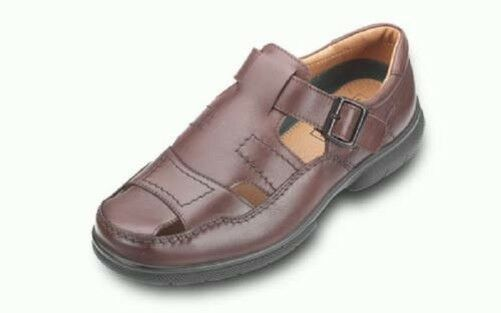Royaume-UniDB shoes sanalised barre en T  en marron, (4E compatible avec )