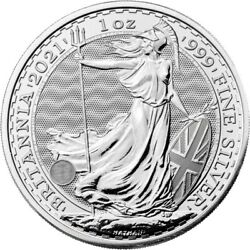 Kyпить 2021 United Kingdom 2 Pound Silver Britannia .999 1 oz BU - IN STOCK на еВаy.соm