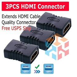 Kyпить 3X HDMI Female to Female Coupler Connector Extender Adapter Cable HDTV 1080P 4K на еВаy.соm