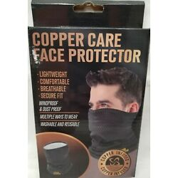 Copper Care Face Protector-Mask-Lightweight Washable Black & Gray -FREE SHIPPING