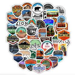 National Park Decal Stickers 50Pcs Travel Vinyl Stickers Hike Cars RV Flask