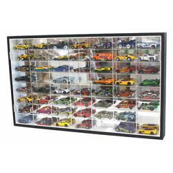 Kyпить 56 Hot Wheels 1:64 Scale Diecast Display Case Stand, Mirrored Back, TWO Door на еВаy.соm