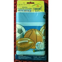 Imperial Casual Kids Self-Stick Wall Border SPORTS WORLD 7 in x 15 ft NEW SEALED