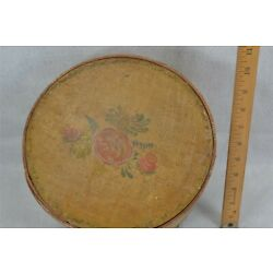 Kyпить antique pantry box painted bent wood round storage 9.5 x 6 original 1800 vg  на еВаy.соm