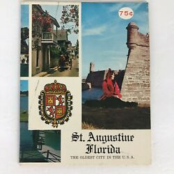 Kyпить 1968 St Augustine Florida Visitors Booklet Information Guide Travel Souvenir  на еВаy.соm