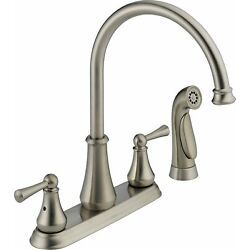 Kyпить Delta Lewiston 21902LF-SS Brilliance Stainless Finish Kitchen Faucet - Brand New на еВаy.соm